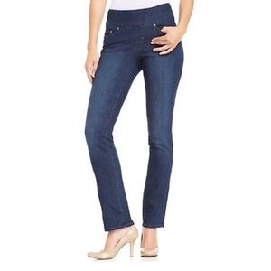 Jag Peri Pull On Straight Jeans, Anchor Blue Wash